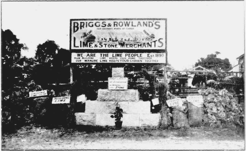 Briggs & Rowland, lime merchants of Coogee, 1912